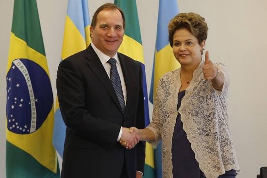 Dilma recebe o premiê sueco 2015