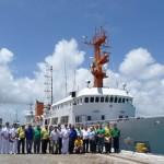 """Navio Oceanográfico """"Antares"""" realiza comissão PNBOIA SE II"""