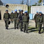 21° Contingente Brasileiro no Haiti recebe visita do MD