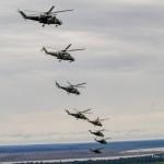 Esquadrão Poti realiza missão com 8 helicópteros AH-2 Sabre