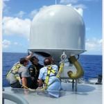 Instalado terminal de comunicações por satélite nos NPaOc da Classe Amazonas
