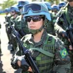 As militares do Exército Brasileiro no Contingente da MINUSTAH