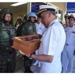 Comando da Força de Fuzileiros da Esquadra realiza homenagem ao Comandante da Marinha
