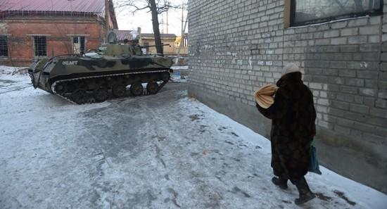 milicias em Dombas