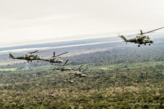 voo sobre a amazonia