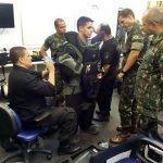 1ª CIA E CMB PQDT visita o Esq Antibombas da Policia Civil