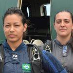 FAB completa equipe feminina de paraquedismo
