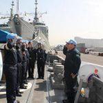 Navio da Marinha de Bangladesh recebe Comandante da Força-Tarefa Marítima da UNIFIL