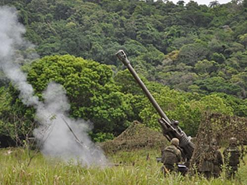 Primeiro tiro de artilharia disparado no ADEST-EQ-FFE-2015