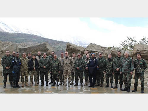 Delegações da FTM-UNIFIL e da Marinha de Guerra Libanesa