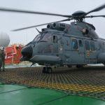 Esquadrão HU-2 realiza EVAM de tripulante do Navio Mercante WEST CARINA
