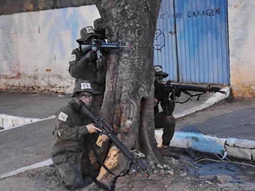 Na ação, militares percorreram a área urbana da cidade