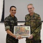 C I Bld se despede do Oficial Instrutor do Exército Alemão