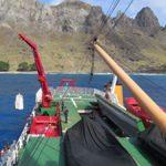 """NApOc """"Ary Rongel"""" realiza comissão no Posto Oceanográfico da Ilha da Trindade"""