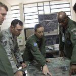 Militares da AFSOUTH vieram ao Brasil para intercâmbio de Busca e Salvamento