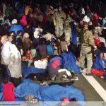 Operacional obtem imagens dos refugiados a bordo da Corveta Barroso