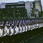 Raro vídeo colorido de um Desfile Militar datado de 1946