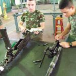 Batalhão de Manutenção de Armamento realiza PCI a Escola de Sargento de Logística