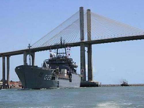 Chegada do NDCC Almirante Saboia em Natal