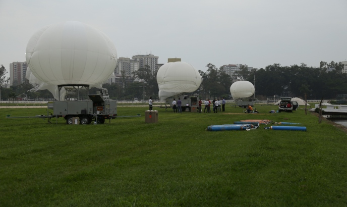 Os balões desenvolvidos pela Altave em São José