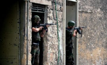 Syrian armed forces in Aleppo province