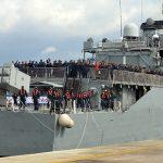 Fragata União (F-45) retorna ao Brasil depois de 9 meses no Líbano
