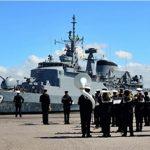 """Fragata """"Liberal"""" atraca no Porto de Montevidéu durante a Operação ATLANTIS III"""
