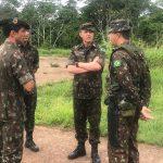 Comandante da 17ª Bda Inf Sl visita os DEF do C Fron Jur/61º BIS em Cruzeiro do Sul
