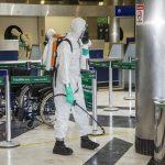 Comando Conjunto Oeste realiza descontaminação do Aeroporto Internacional de Campo Grande